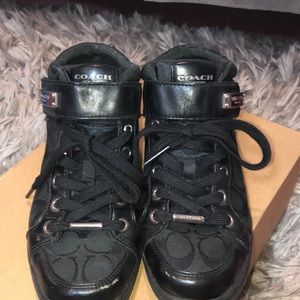 Coach Black Hightop Shoes